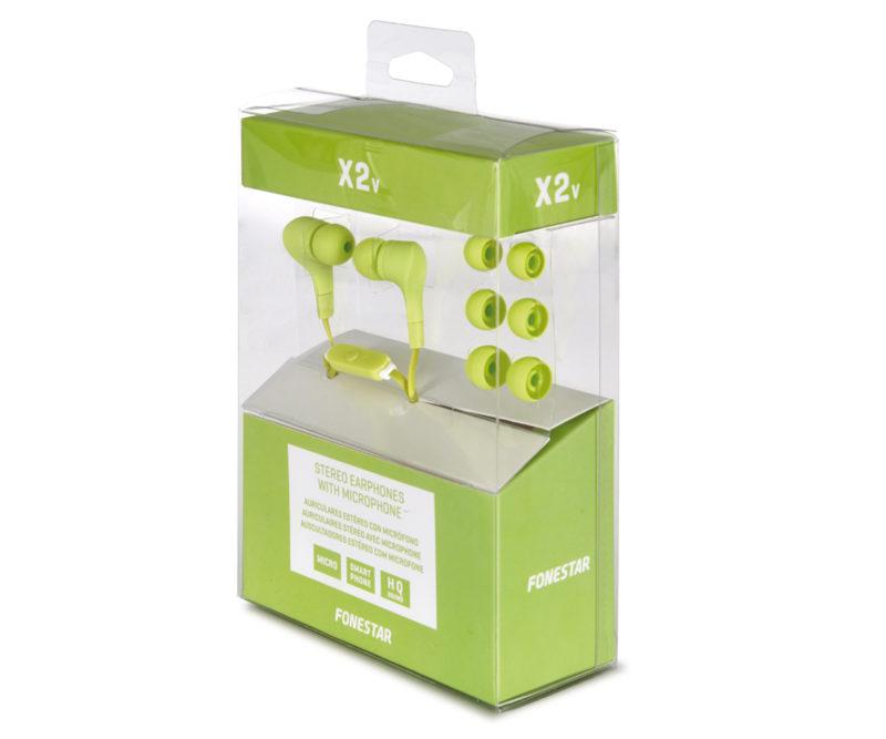 Fonestar X2 Auriculares verdes