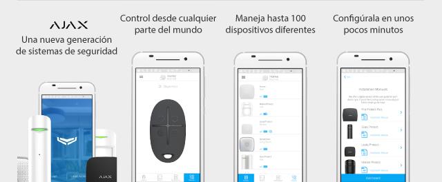 Ejemplo aplicación alarma Ajax