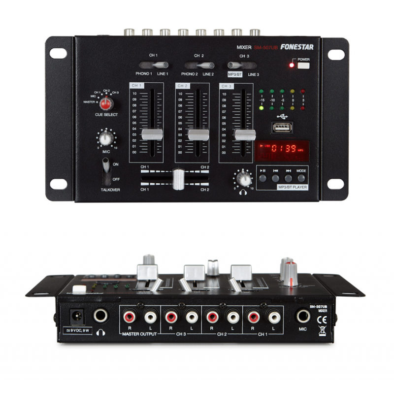 Fonestar SM-507UB mezclador dj usb bluetooth