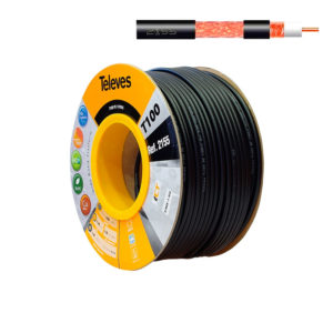 Televes 2155 cable exterior negro PE